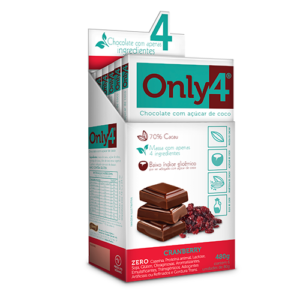 58915 - CHOCOLATE ONLY4 CRANBERRY 6X80G GENEVY