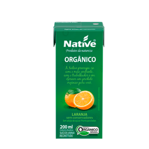 52321 - SUCO LARANJA ORGANICO 200ML NATIVE